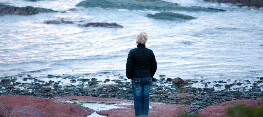woman watching ocean