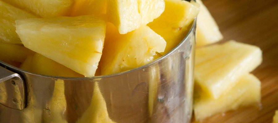 one cup of fresh pineapple