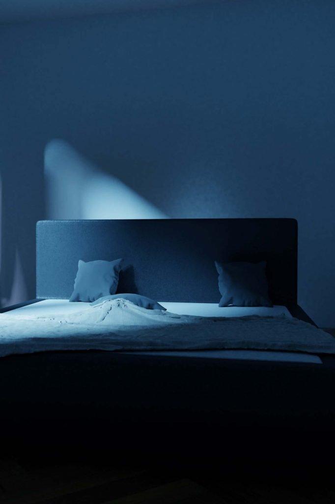 dark and restful bedroom
