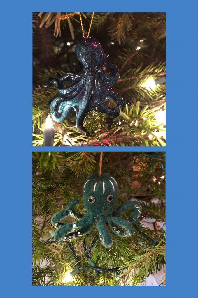HodgeonRepeat - octopus christmas tree ornaments