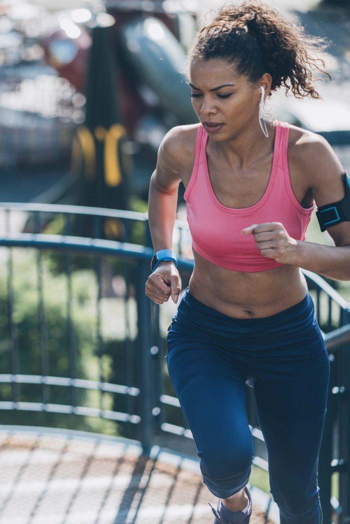 HodgeonRepeat blog - woman running up stairs