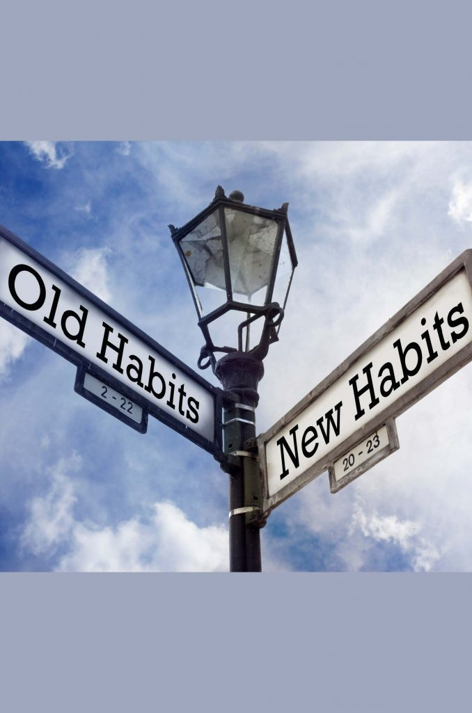 HodgeonRepeat blog - lamp posts sign reading old habits and new habits