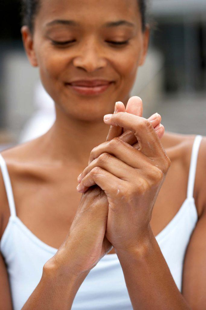 HodgonRepeat blog - woman enjoying hand massage
