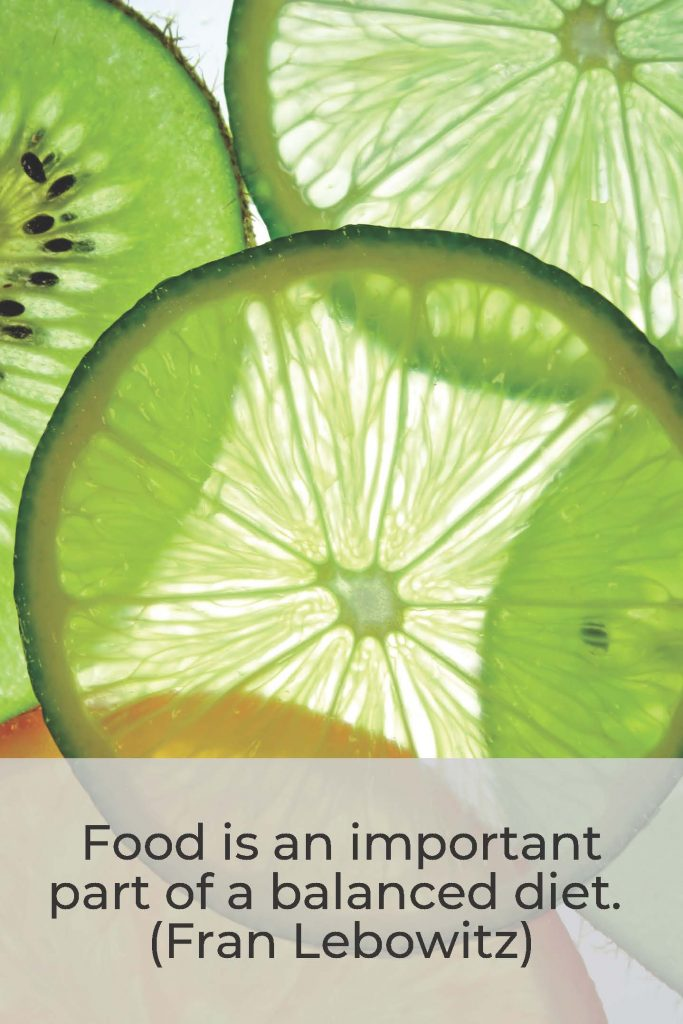 HodgeonRepeat blog - Fran Lebowitz quote on balanced diet