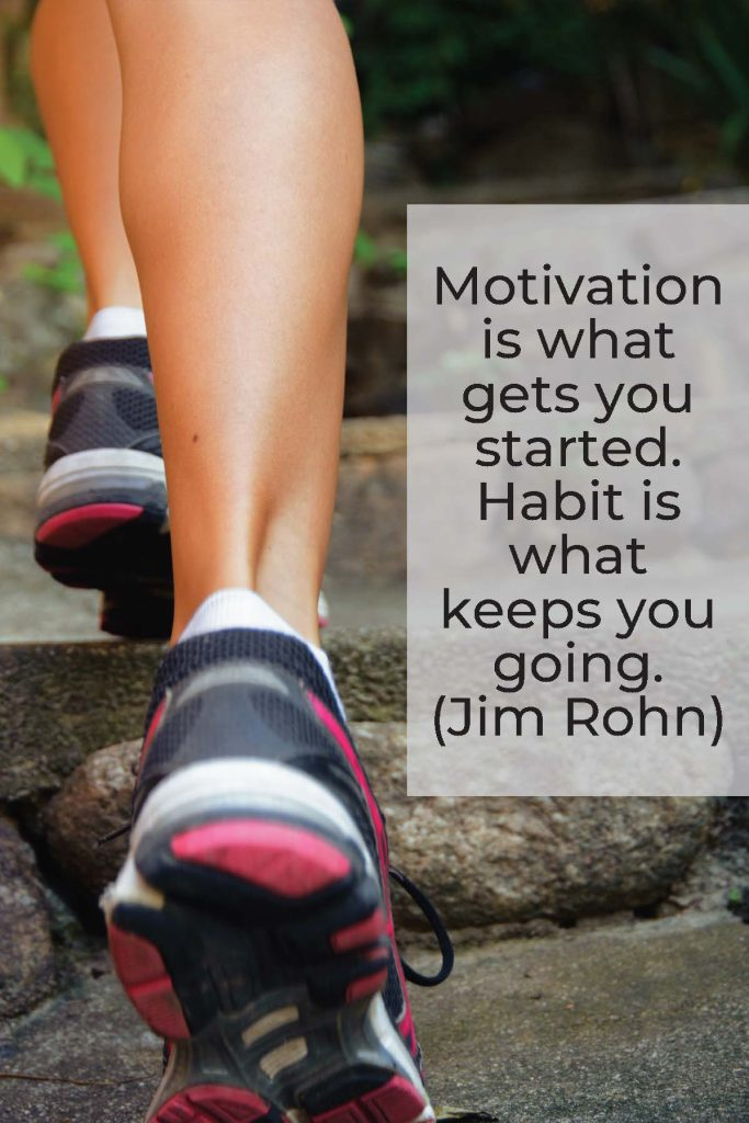 HodgeonRepeat - Jim Rohn quote habit keeps you going