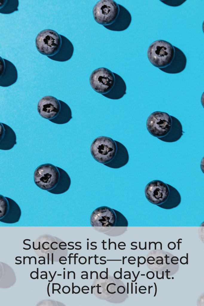 HodgeonRepeat blog - Robert Collier quote - success is small efforts repeated