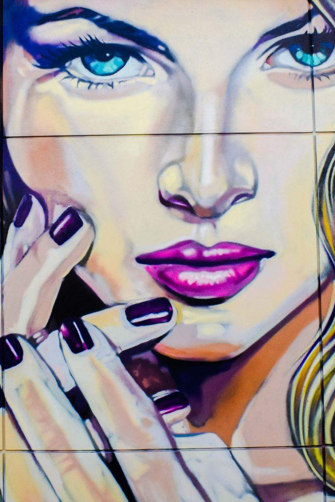 HodgeonRepeat blog - graffiti mural of womans ace