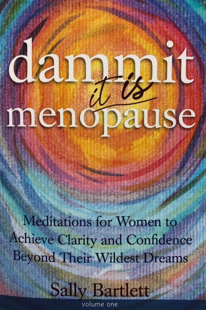HodgeonRepeat blog - Book Cover - Dammit it is menopause - Sally Bartlett
