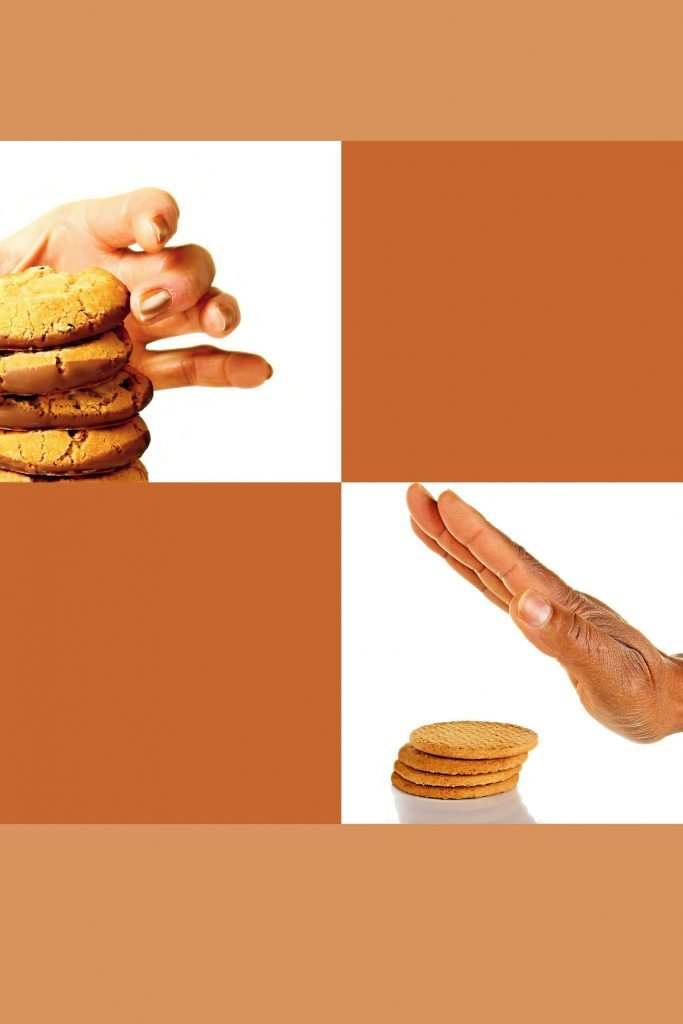 HodgeonRepeat blog - one hand taking cookie and one hand pushing it away