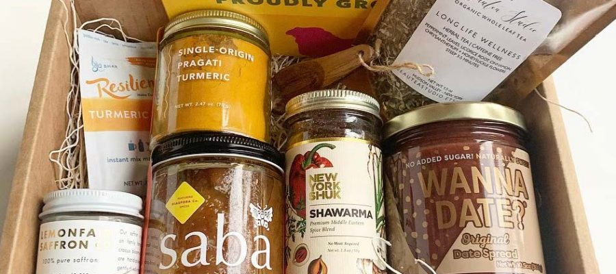 HodgeonRepeat blog - Simply Very Nice Pantry Gift Box -- assorted spices and condiments