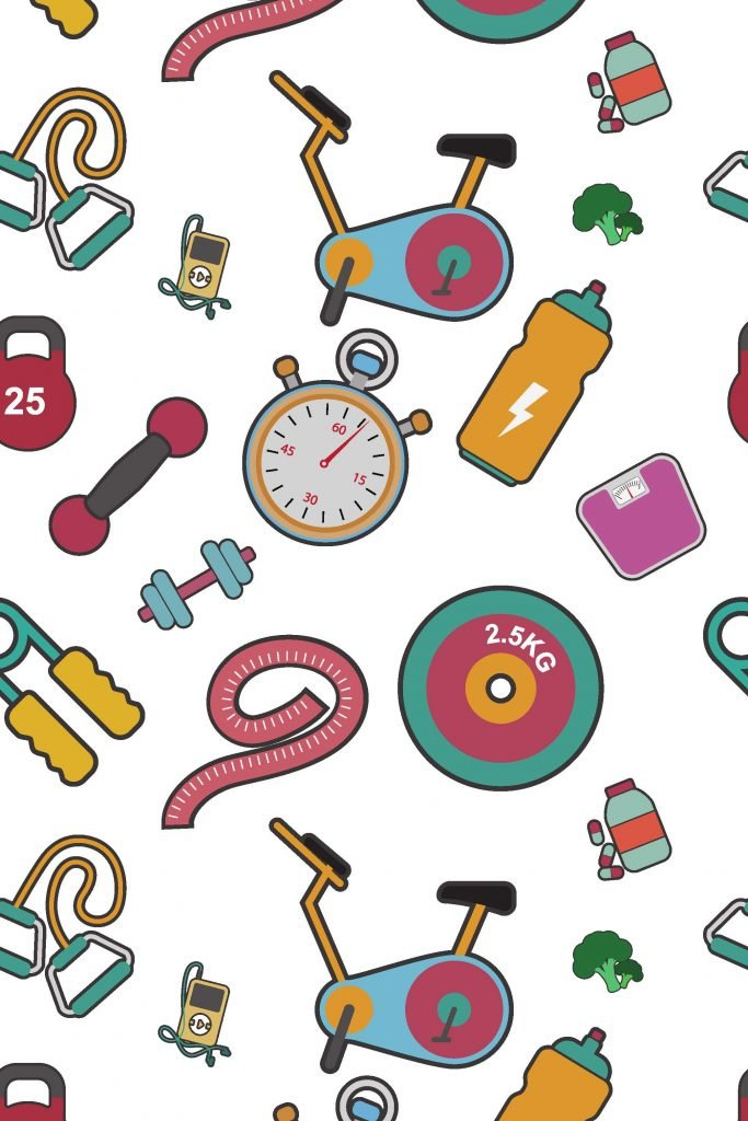 HodgeonRepeat blog - repeating colorful exercise icons