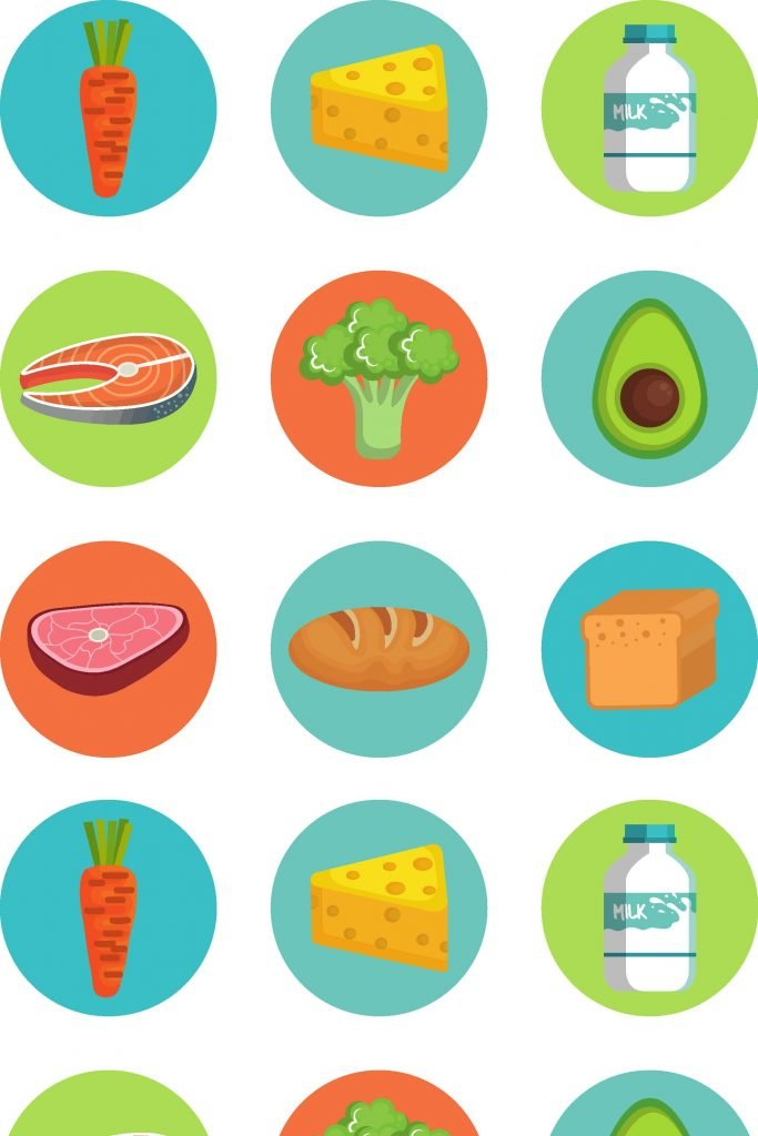 HodgeonRepeat blog - repeating colorful food icons
