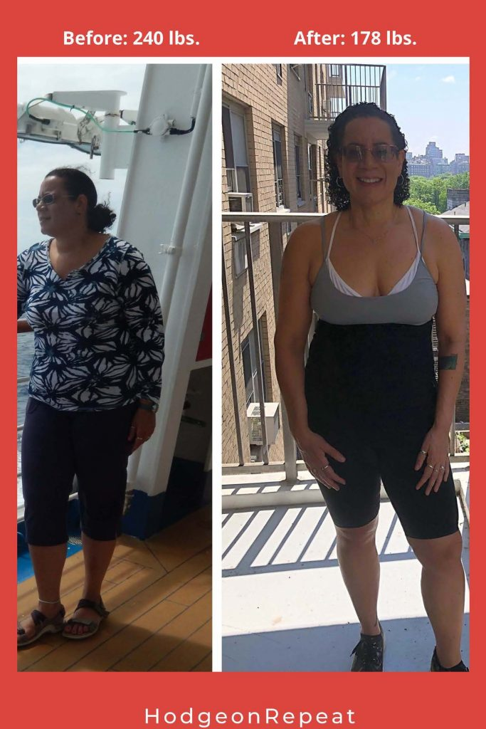 HodgeonRepeat blog - Jill Hodge before and after weight loss photos