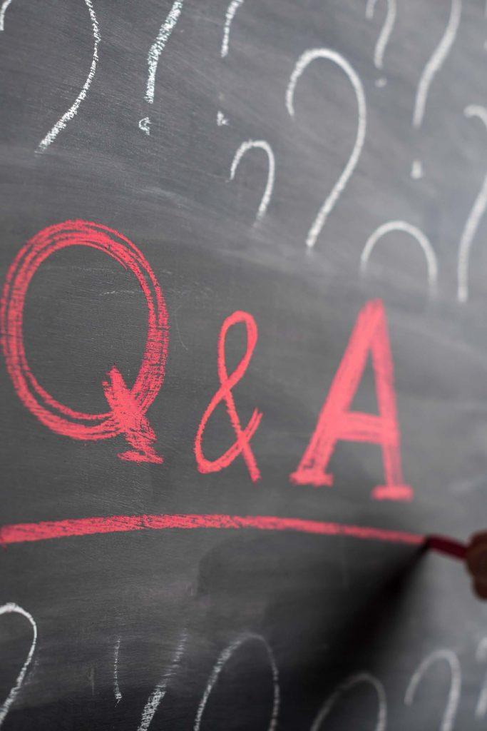 HodgeonRepeat blog - Q & A written on chalkboard - questions about weight loss