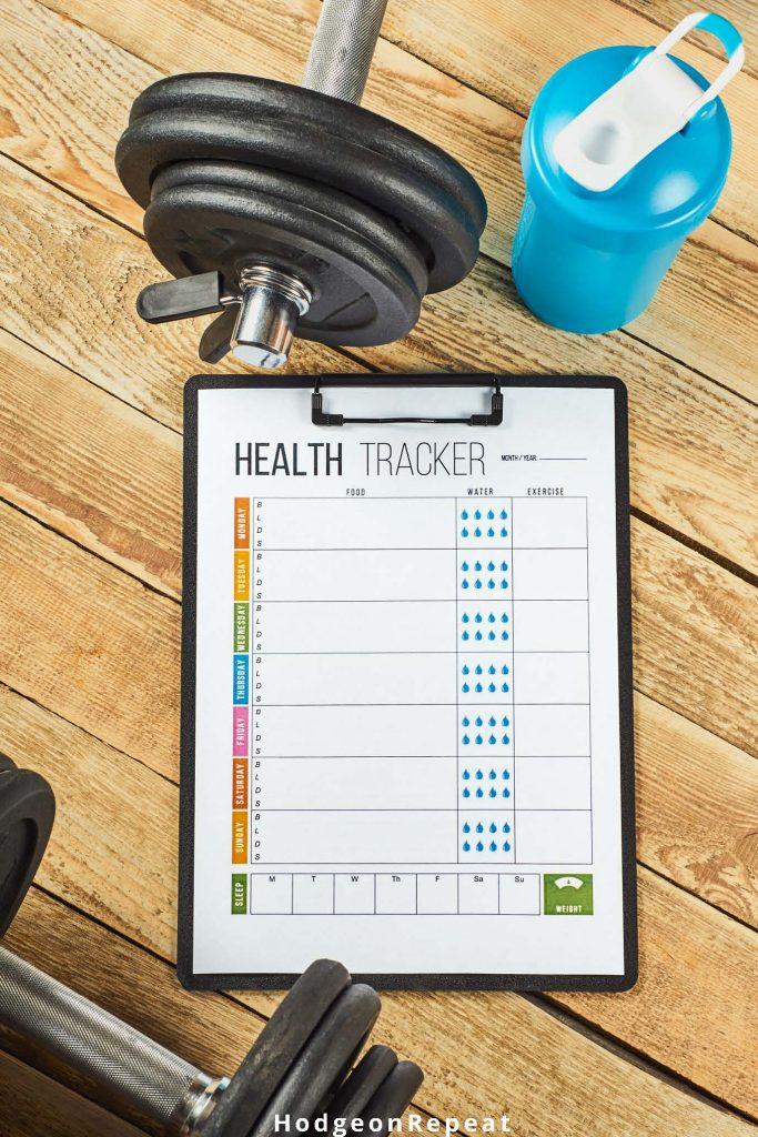 HodgeonRepeat blog - health tracker on clipboard