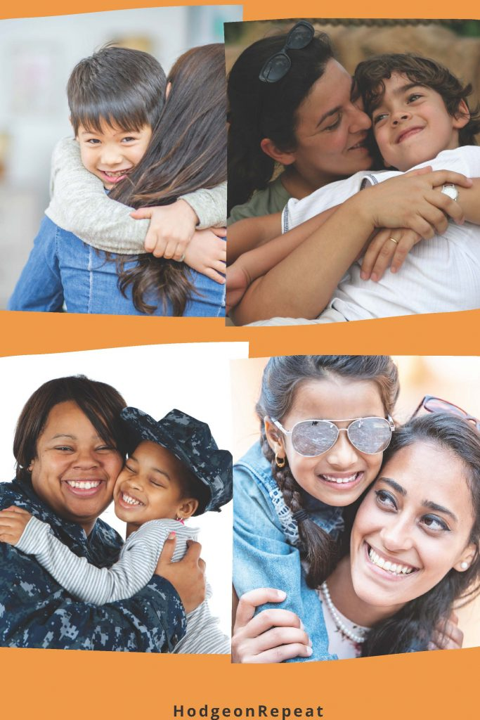 HodgeonRepeat blog - collage of mothers hugging their children