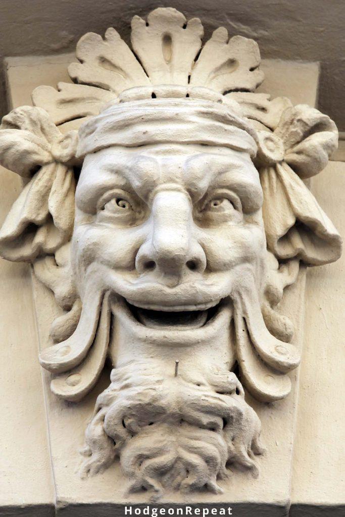 HodgeonRepeat blog - gargoyle of mad man - rebounding for a dietary slip