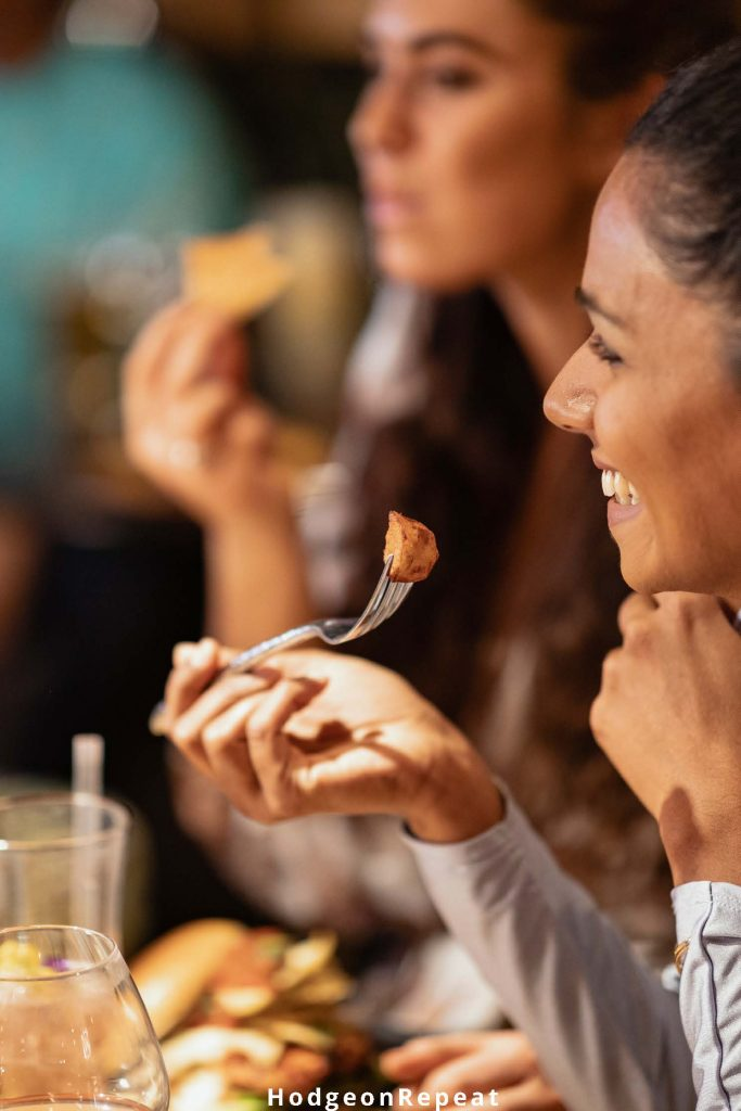 HodgeonRepeat blog - women eating around table - balanced eating