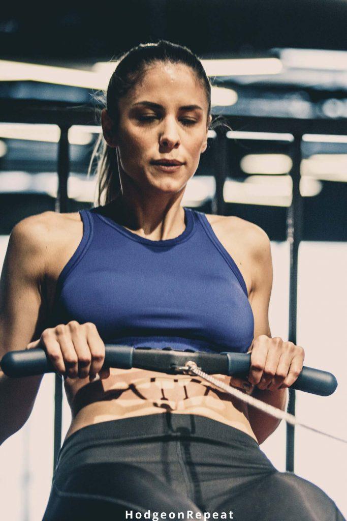 HodgeonRepeat blog - woman on indoor rowing machine