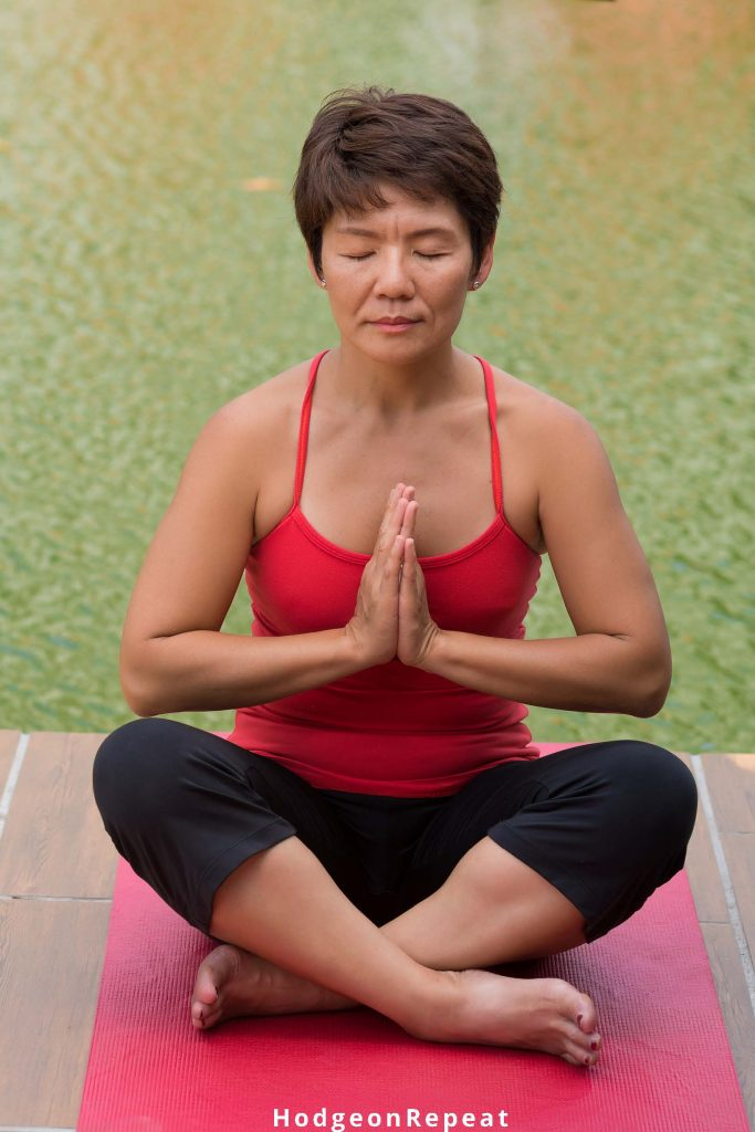 HodgeonRepeat blog - weight maintenance matters - Asian woman sitting in yoga pose