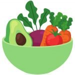 HodgeonRepeat blog - eating whole foods produce on a budget - bowl of vegetables