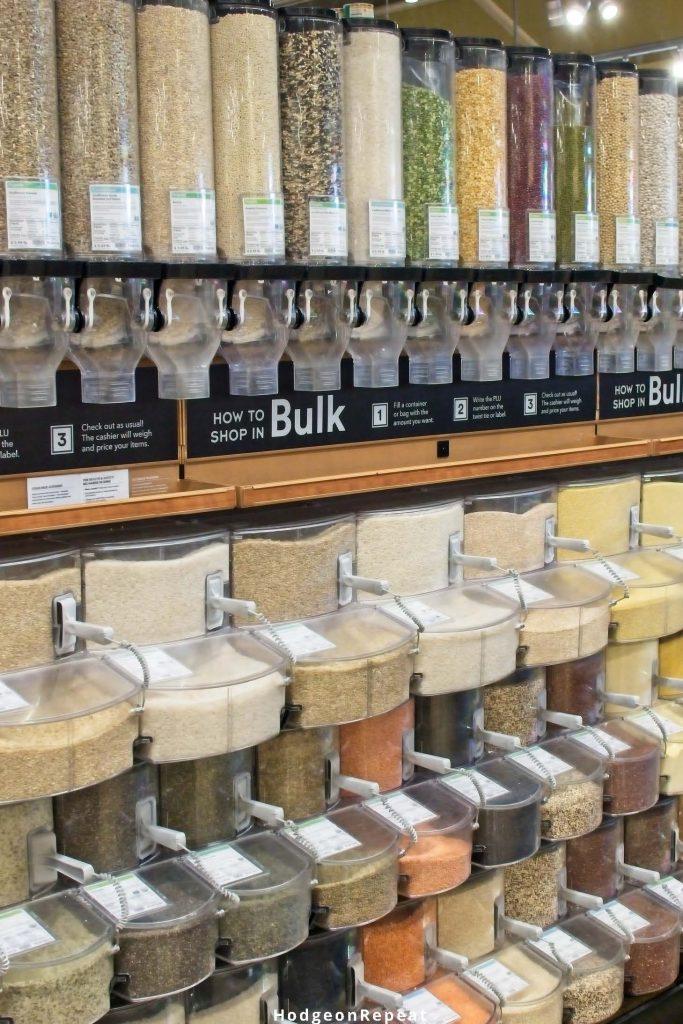 HodgeonRepeat blog - whole foods on a budget - bulk bins